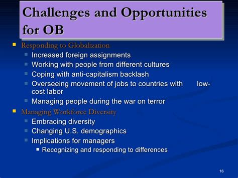 challenges for managers in organizational behaviour organizational behavior