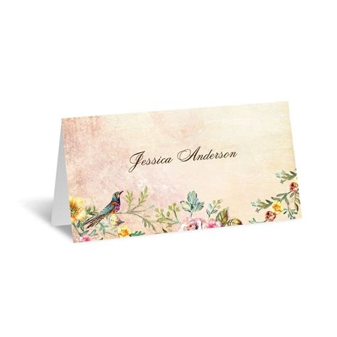 retro wedding place cards vintage birds place card invitations by
