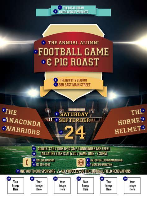 football lights logo flyer ticket printing