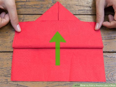 how to make a paper napkin boat 4 ways to fold a napkin like a boat wikihow