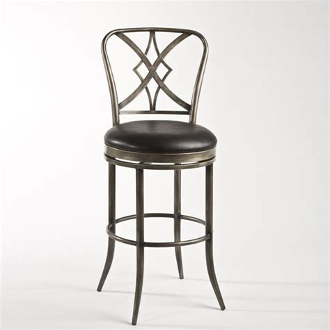 Black Swivel Bar Stool Hillsdale Jacqueline 26 Swivel Counter Pewter Rub Black Bar Stool Ebay