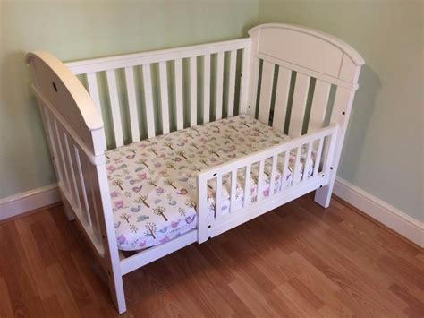 toddler bed guard white boori country cot bed inc toddler guard