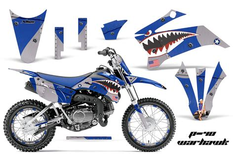motocross bike graphics yamaha motocross graphic sticker kit yamaha mx ttr110