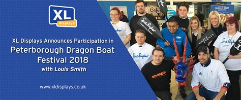 dragon boat festival 2018 uk xl displays announces participation in peterborough dragon