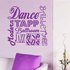Dance Wall Stickers Dance Wall Quotes Ballet Words Removable Dancing Wall Decals
