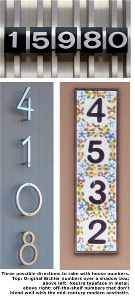 eichler numbers eichler style house numbers house style ideas