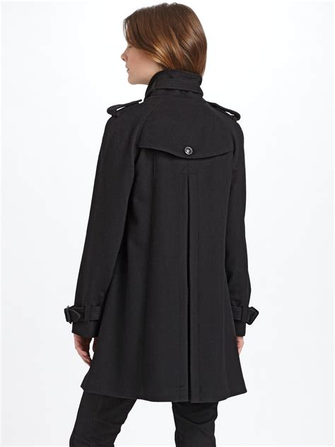 cashmere swing coat burberry wool cashmere swing coat in black lyst