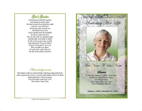 obituary program template 19 free word excel pdf psd