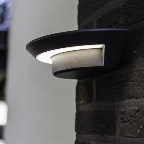lutec ghost 7w exterior led wall light in graphite