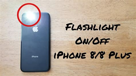how to turn flashlight on iphone 8 8 plus