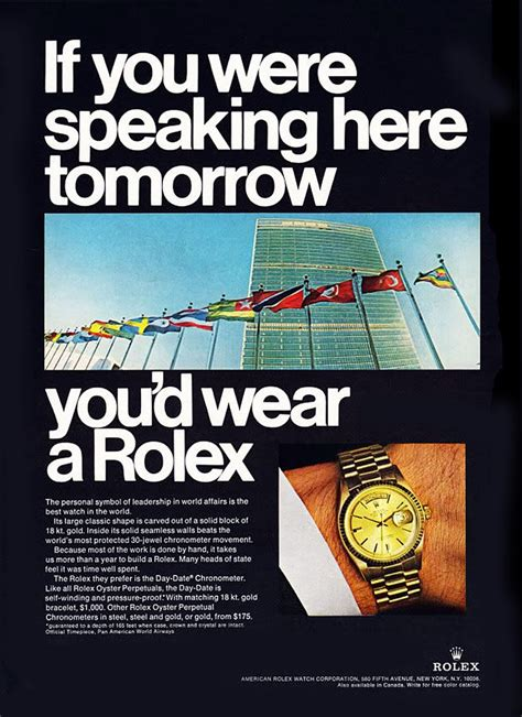 rolex ads this ad from 1967 in rolex magazine featured the united