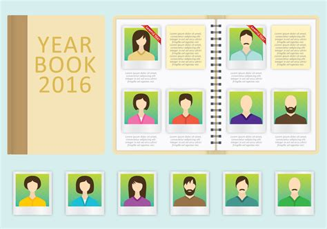 yearbook themes powerpoint year book vector template download free vector art