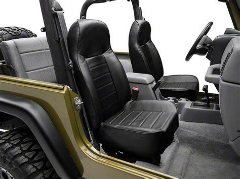 standard jeep interior smittybilt wrangler standard front bucket seat black