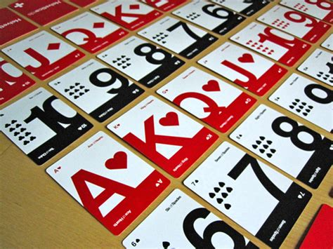 Kartu Remi Bicycle Vintage Design helveticards minimalist typographic cards