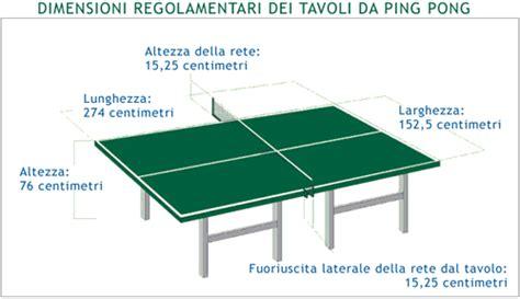 misure di un tavolo da ping pong misure tavoli da ping pong dimensioni regolamentari