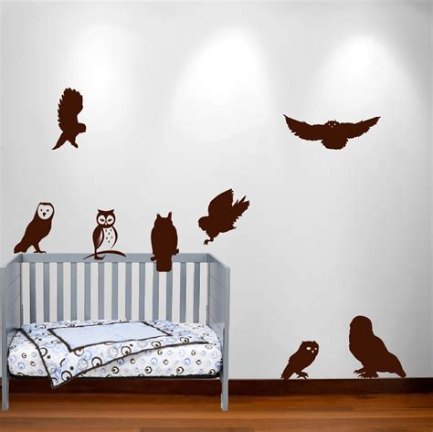 Bird Wall Decals For Nursery Owl Wall Decal Nursery Sticker Bird Set 1251 Innovativestencils