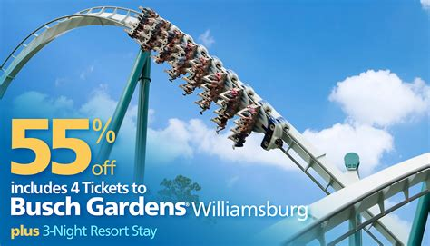 Busch Gardens Ticket by Busch Gardens Tickets Busch Gardens Offering Buy One Get One Free Single Day Tickets Seaworld