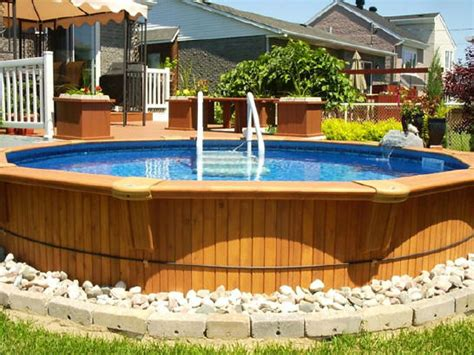 Above Ground Pool Backyard Landscaping Ideas by Landscaping Ideas For Backyard With Above Ground Pool