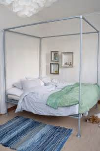 Diy Pvc Canopy Bed Frame 15 Beds Made From Pipe To Give Your Apartment Industrial