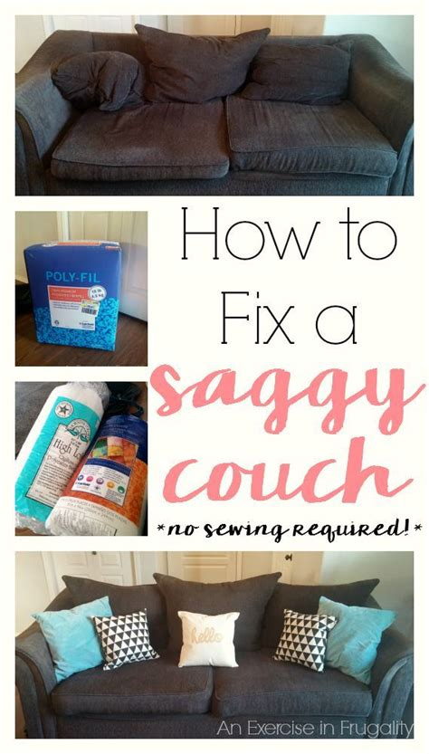 How To Fix Saggy by How To Stuff Cushions An Exercise In Frugality