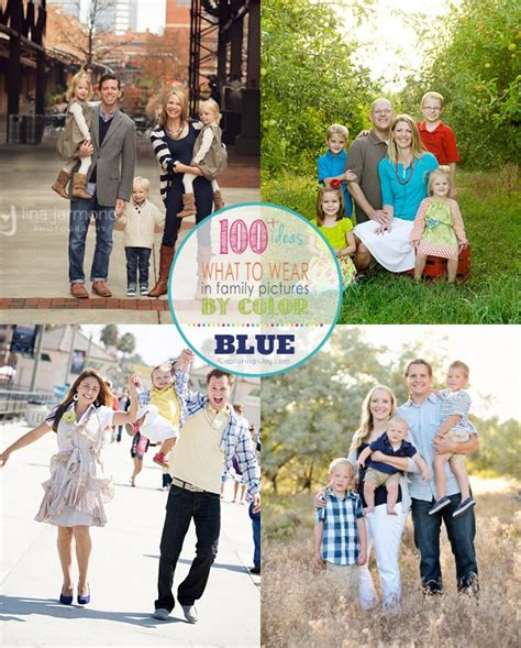 family picture clothes by color series greens portrait family picture clothes by color series blues capturing