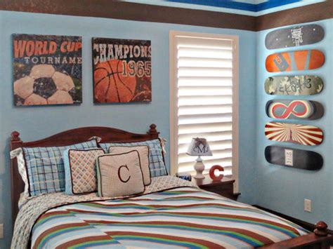 Vintage Sports Bedroom Decor by Sports Themed Children S Rooms And