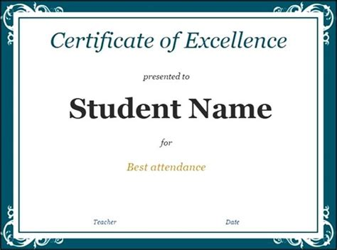 sle student certificate google doc template sle