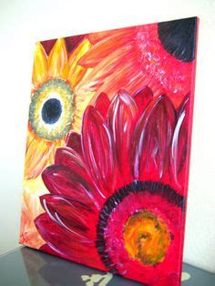 paint with a twist green green flower painted in acrylics on barn board patina