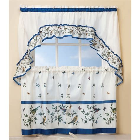 birds kitchen curtain swag 3 pc set kimball