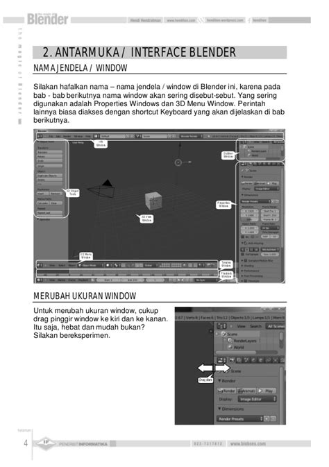 Cd Rubrik Jendela Akhirat tutorial blender 3d pengenalan interface fundamental