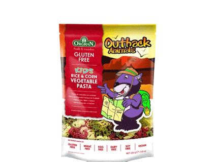 Orgran Vegetable Animal Pasta orgran outback animals vegetable pasta 250g organic foods and cafe