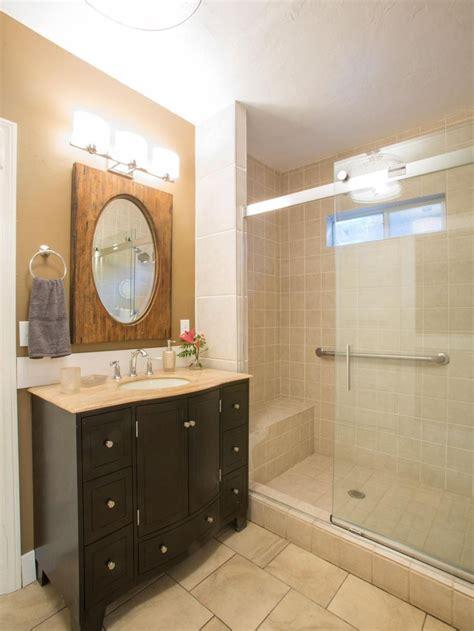 slide bathroom graylac new floor hgtv s vs s team drew created this beautiful traditional bathroom the