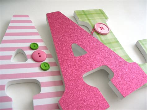 decorating wooden letters for nursery set of 3 decorated 9 wooden letters nursery name d 233 cor
