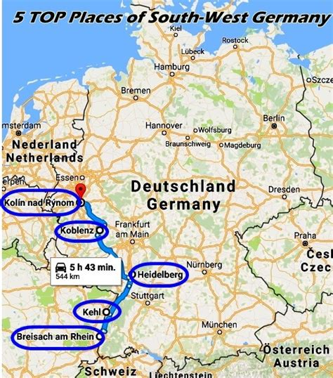 south west germany map cruise diary part 8 top 5 places of south west germany