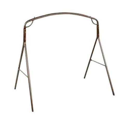 metal frame swing jack post woodlawn 5 ft textured steel frame patio swing