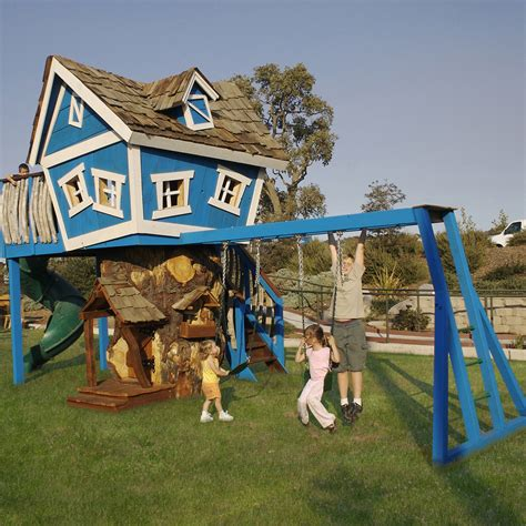 playhouse with swing set playhouses for kids 21st century style thelittlelegscompany