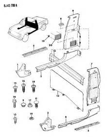Jeep Comanche Parts Comanche Parts Auto Parts Diagrams