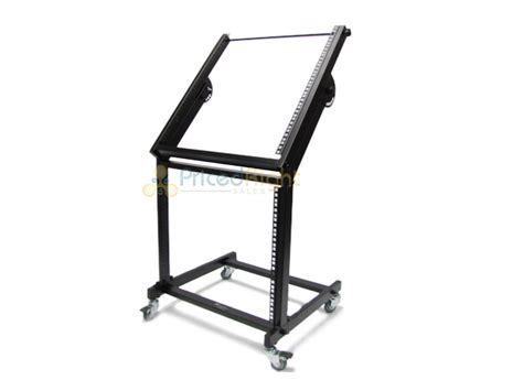 Rolling Equipment Rack by Dj Lifier Mixer Rolling Equipment Rack Stand Cart