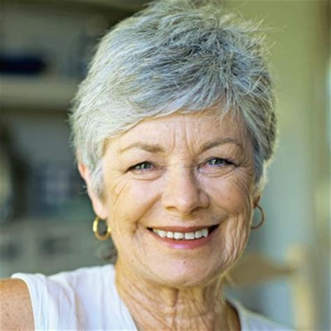 short hairstyles for seniors with grey hair short hairstyles for older women gallery