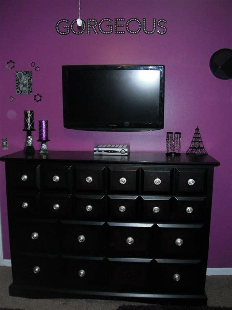 black and purple room black and purple bedroom rooms pinterest
