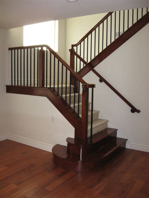 Wood Stair Railing Wood And Iron Railings Traditional Staircase Las