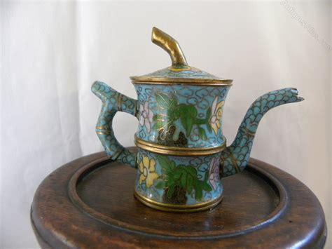 Antique Style Blue White Miniature Mini Teapot European Tea Cup 3 5 Quot 9cm Ebay Antiques Atlas Miniature Cloisonne Teapot
