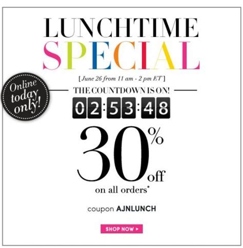 a for all time discount code addition canada lunchtime special save 30 all