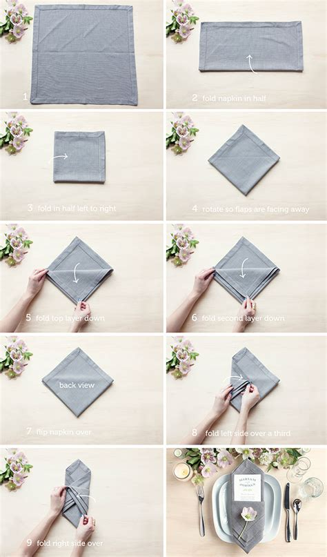 Table Napkin Origami - table setting tips 3 menu napkin folds gift favor