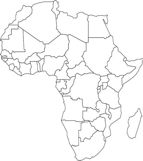 Blank Map Of Africa On White