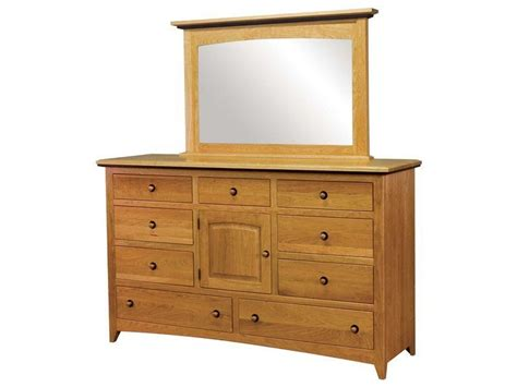 shaker style dresser with mirror amish classic shaker nine drawer one door dresser with