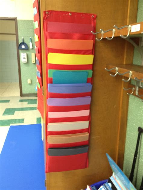 How To Make Paper Organizer - construction paper organizer classroom