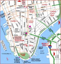 Map Of New York City Manhattan by Road Map Of Lower Manhattan City Hall World Trade Ctr