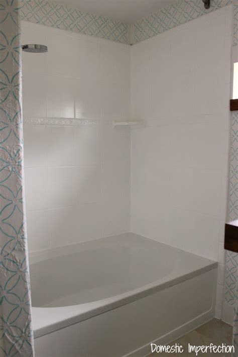 painting fiberglass bathtub shower how to refinish outdated tile yes i painted my shower