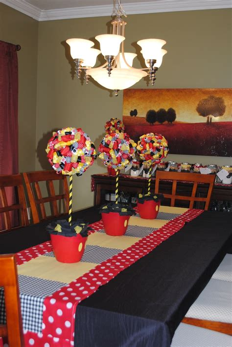 Mickey Mouse Table Decorations by Mickey Mouse Decorations Dining Room Made Table Runner